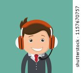businessman with headset...   Shutterstock .eps vector #1157670757