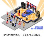 welcome to the party isometric... | Shutterstock .eps vector #1157672821