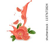 grapefruit splash illustration. ... | Shutterstock .eps vector #1157672824