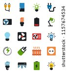 color and black flat icon set   ... | Shutterstock .eps vector #1157674534