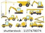 big set of heavy equipment... | Shutterstock .eps vector #1157678074