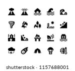 simple set of disaster related... | Shutterstock .eps vector #1157688001