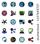 color and black flat icon set   ... | Shutterstock .eps vector #1157693737