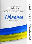 24 august    independence day... | Shutterstock .eps vector #1157701954