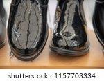 black leather feet for men | Shutterstock . vector #1157703334