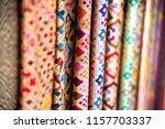 thai silk fabric folded for... | Shutterstock . vector #1157703337