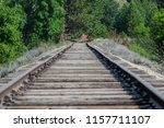 long silent railroad tracks...   Shutterstock . vector #1157711107