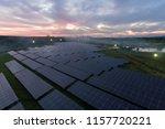beautiful sunset over solar... | Shutterstock . vector #1157720221