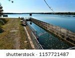running water power plant | Shutterstock . vector #1157721487