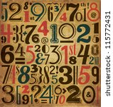 vintage numbers   typographic... | Shutterstock .eps vector #115772431