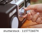 hand tuning fm radio button     ... | Shutterstock . vector #1157726074