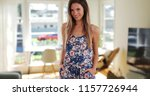 pretty millennial woman in... | Shutterstock . vector #1157726944
