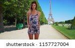 portrait of pretty brunette in... | Shutterstock . vector #1157727004
