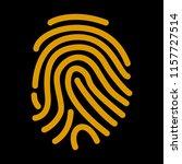 fingerprint scan icon. vector... | Shutterstock .eps vector #1157727514