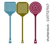 fly swatter  beats flies ... | Shutterstock .eps vector #1157727517