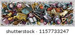 school doodles banner design.... | Shutterstock .eps vector #1157733247