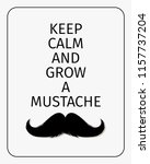 moustaches challenge poster....   Shutterstock .eps vector #1157737204