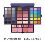 palette with make up brushes... | Shutterstock .eps vector #1157737597