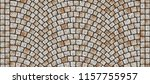 cobblestone arched pavement... | Shutterstock . vector #1157755957