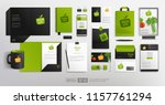 realistic brand identity mockup ... | Shutterstock .eps vector #1157761294
