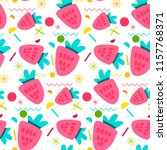vector summer fruits pattern in ... | Shutterstock .eps vector #1157768371