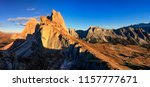 autumn in the alps. the... | Shutterstock . vector #1157777671