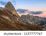seceda mountain at sunset.... | Shutterstock . vector #1157777767