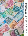 colorful old world paper money... | Shutterstock . vector #1157790904