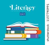 international literacy day... | Shutterstock .eps vector #1157790991