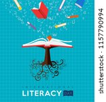 international literacy day... | Shutterstock .eps vector #1157790994