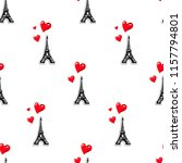 abstract seamless girlish paris ... | Shutterstock .eps vector #1157794801