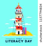 happy literacy day illustration ... | Shutterstock .eps vector #1157794834