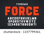force heavy display font design ... | Shutterstock .eps vector #1157799361