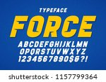 force heavy display font design ... | Shutterstock .eps vector #1157799364
