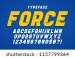 force heavy display font design ... | Shutterstock .eps vector #1157799364