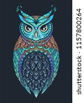 owl with tribal ornament. hand... | Shutterstock .eps vector #1157800264