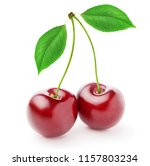 cherry. isolated cherries. two... | Shutterstock . vector #1157803234