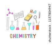 chemistry elements for print ... | Shutterstock .eps vector #1157804947