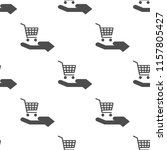 shopping  cart on hand icon... | Shutterstock .eps vector #1157805427