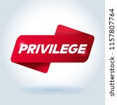 privilege arrow tag sign. | Shutterstock .eps vector #1157807764