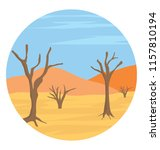 flat icon design of desert... | Shutterstock .eps vector #1157810194