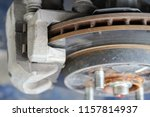 brake disc and used brake pads... | Shutterstock . vector #1157814937
