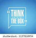 think outside the box line... | Shutterstock .eps vector #1157818954