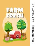 farm fresh cartoons | Shutterstock .eps vector #1157819437