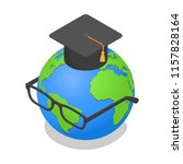 earth globe geography graduated ... | Shutterstock .eps vector #1157828164