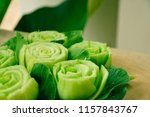 close up of slice or cut green... | Shutterstock . vector #1157843767