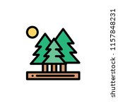 nature landscape flat icon | Shutterstock .eps vector #1157848231