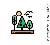 nature landscape flat icon | Shutterstock .eps vector #1157848234