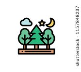 nature landscape flat icon | Shutterstock .eps vector #1157848237