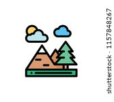 nature landscape flat icon | Shutterstock .eps vector #1157848267
